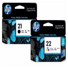 [Paket Hemat] Tinta HP 21 Black + 22 Tri-Color Original - Multiwarna