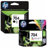 Beli Paket Hemat Tinta Hp 704 Black Tri Color Original Multiwarna Murah Di Indonesia