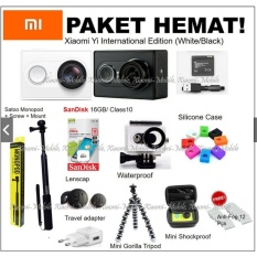 Harga Paket Hemat Xiaomi Yi Action Camera Wifi 16Mp 1080P 60 Fps Fullset Murah
