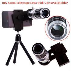 Paket Lengkap Smartphone Lensa Tele Zoom 12x Universal HP plus Tripod dan holder