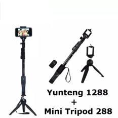 Spesifikasi Paket Lengkap Tongsis Yunteng 1288 Remote Bluetooth Free Mini Tripod Yt 288 Lengkap