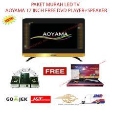 PAKET MURAH LED TV AOYAMA 17 INCH FREE DVD PLAYER+SPEAKER