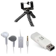 Paket Murah Tripod Gorila Mini+Handsfree Samsung+Flasdisk Toshiba 8GB