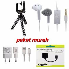 Paket Murah Tripod Mini Gorilla+Charger Samsung+Handsfree Samsung+Otg Connect Kit