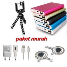 Paket Murah Tripod Mini Gorilla+Power Bank Slim+Joystick Game+Charger Samsung
