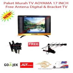 Paket Murah TV LED AOYAMA 17 INCH FREE BRACKET DAN ANTENA