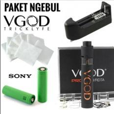Diskon Paket Ngebul Vgod Free Liquid 10Ml Charger1Slot Baterai Sony Vgod Jawa Timur