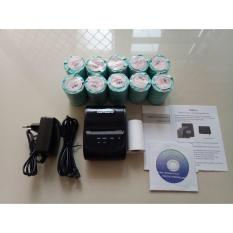 Paket Printer Resep Thermal Bluetooth Zjiang ZJ-5802 + Kertas Thermal 10 Rol