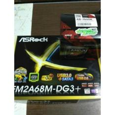 Paket Processor AMD A8 7650K Box dan Motherboard Asrock FM2A68M-DG3 Plus