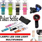 Tips Beli Paket Selfie Tongsis Mini Monopod Warna Random Lensa Super Wide 4 X Gratis Lampu Led Usb Lights Yang Bagus