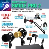 Harga Paket Smule Pro 2 Mic Bm800 Stand Arm Pop Filter Phone Holder Branded