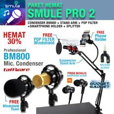 Jual Paket Smule Pro 2 Mic Bm800 Stand Arm Pop Filter Phone Holder Online Di Indonesia