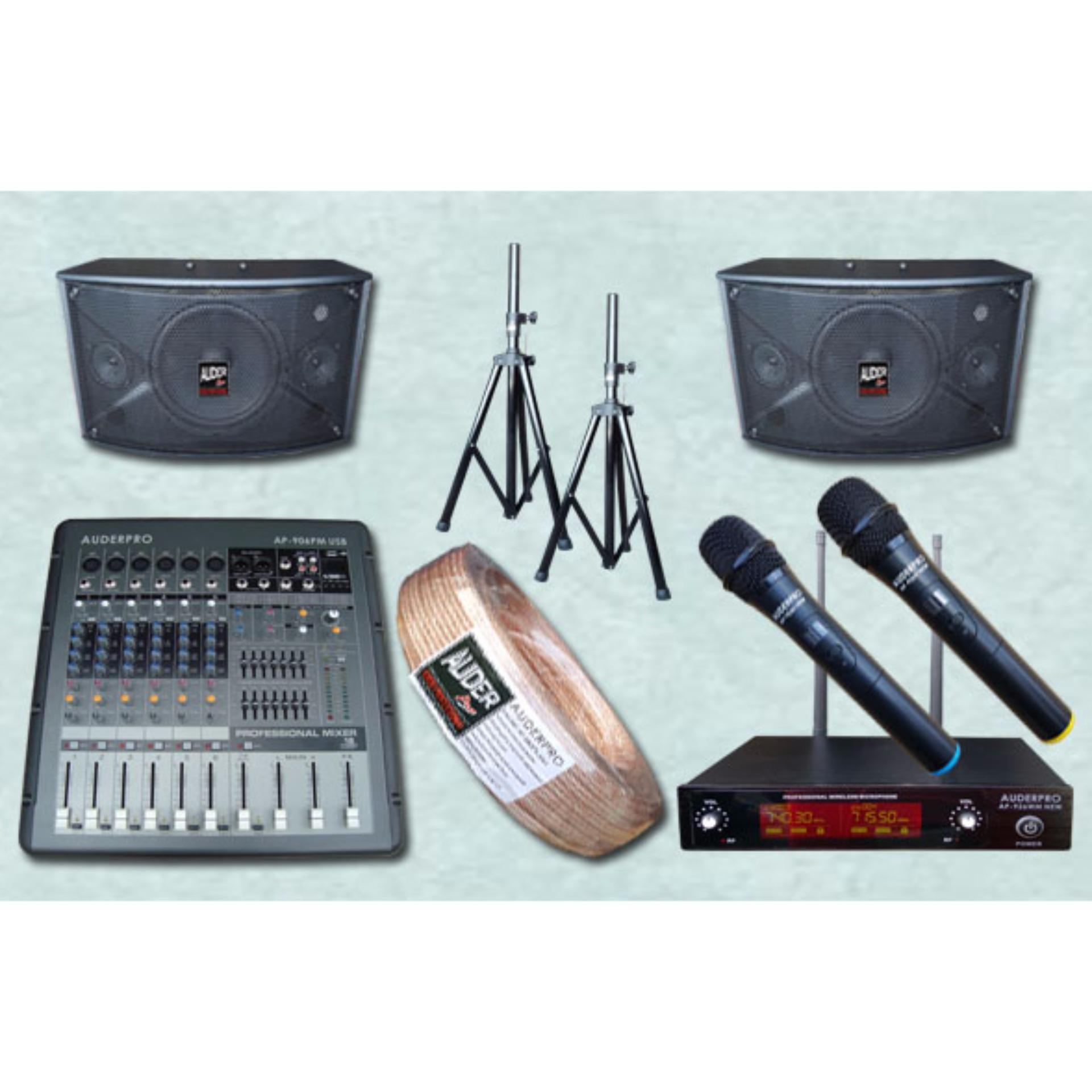 Review Paket Sound System Karaoke Meeting Kecil 7 Auderpro 8Inc Rekam Power Mixer Terbaru