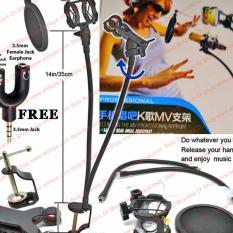 Katalog Paket Stand Mikrofon Mounting Hp Mic Holder Flexible Pegangan Smartphone Microphone Pop Filter Jepit Terbaru