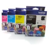 Jual Paket Tinta Brother Lc583 Original 4 Warna 1Set Baru