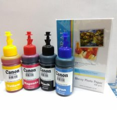 PAKET TINTA CANON  4 WARNA  BONUS PHOTO PAPER