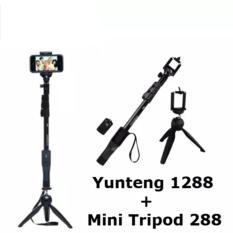 Paket Tongsis Selfie Yunteng Bluetooth With Mini Tripod YT-228