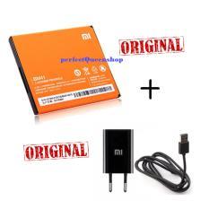 PAKET Xiaomi Baterai Battery BM41 For Xiaomi Redmi 1s / Xiaomi HongMi +  Charger Xiaomi Original