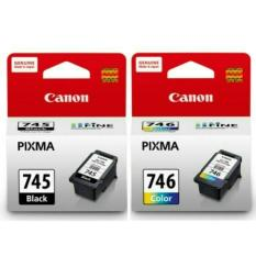 Harga Paketan Canon Ink Cartridge Pg 745 Cl 746 Original Lengkap
