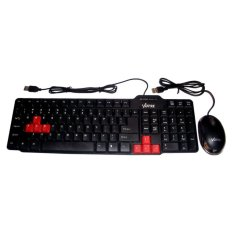 Paketan Keyboard Usb Kb2308 + Mouse Optic Lampu Usb By Dbest Compushop.