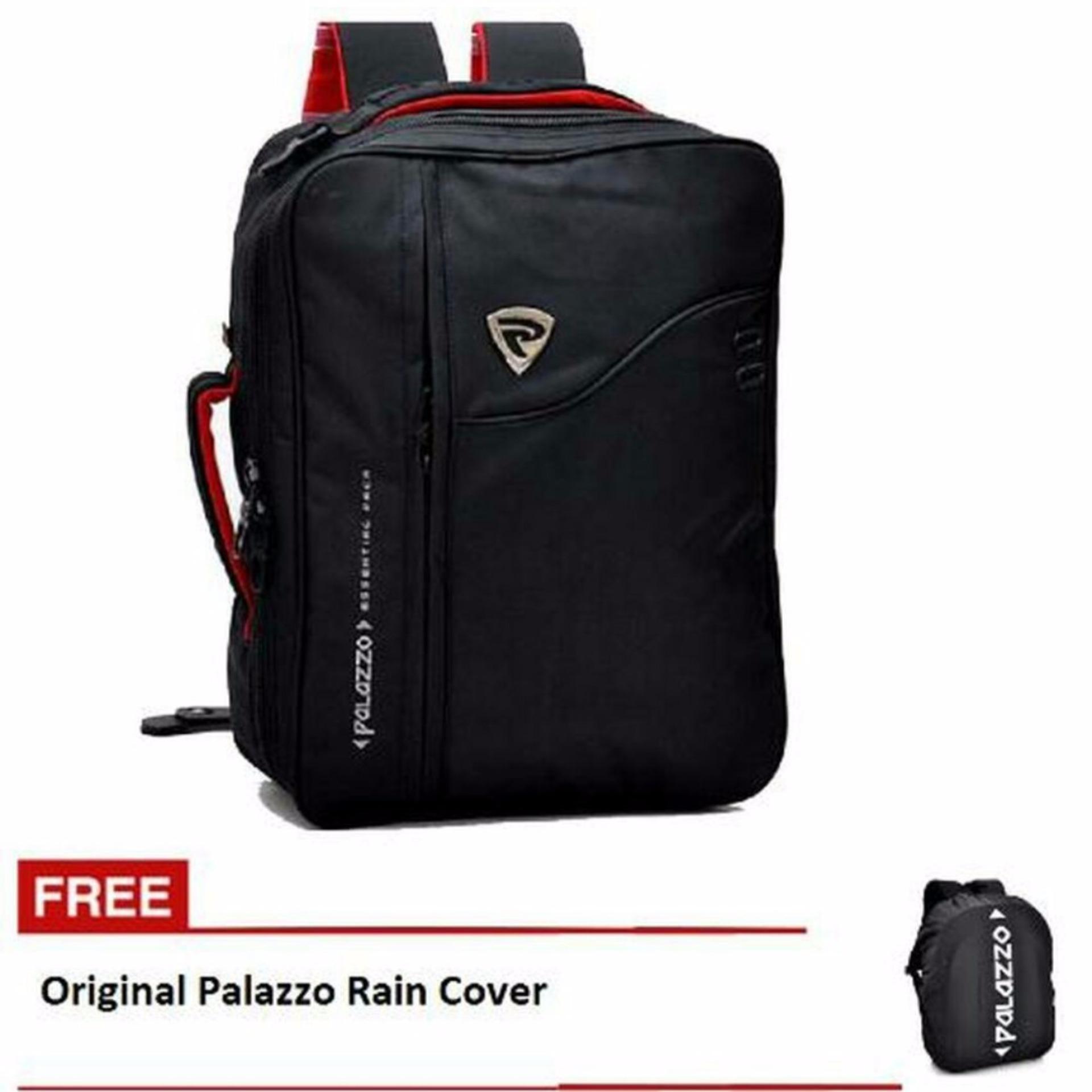 Harga Palazzo Tas Ransel 3In1 Ransel Slempang Jinjing 34685 Free Rain Cover Hitam Yg Bagus