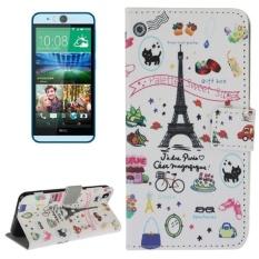 Palet's Sweet Street Pola Kulit Case dengan Pemegang dan Slot Kartu dan Dompet untuk HTC Desire EYE/M910X -Intl