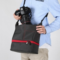 PALIGHT Portable Tas Kamera DSLR SLR Tas Tahan Air Travel Bags Fotografi Ransel-Intl