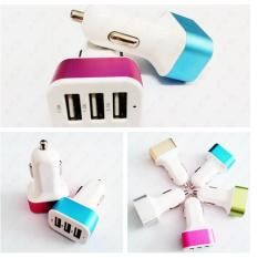 PALING LAKU DAN DICARI Car Charger 3in1 Port Usb colokan lighter samsuung android applee mobil TERLARIS