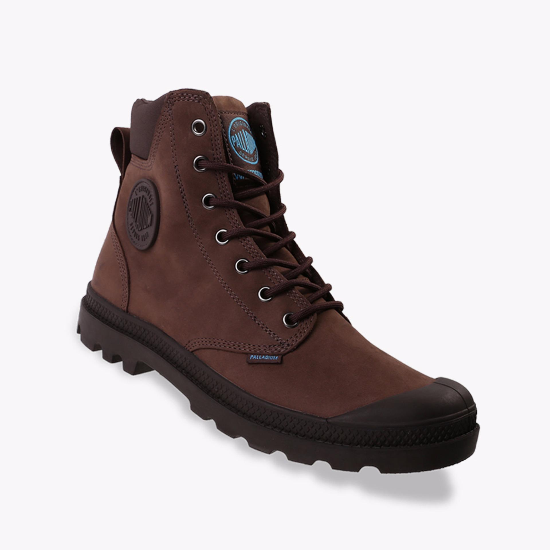 Palladium Pampa Cuff Waterproof Lux Unisex Boots Shoes - Cokelat 8175c11cf9