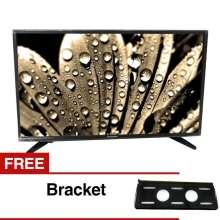 "... Panasonic 32"" LED HD TV - Hitam (Model TH-32F302) + Gratis"