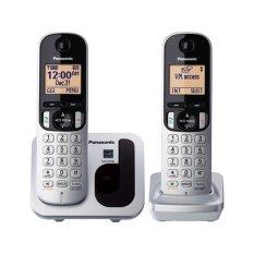 Panasonic Cordless Phone KX-TGC212CX Wireless Phone - 2 Handsets - Silver