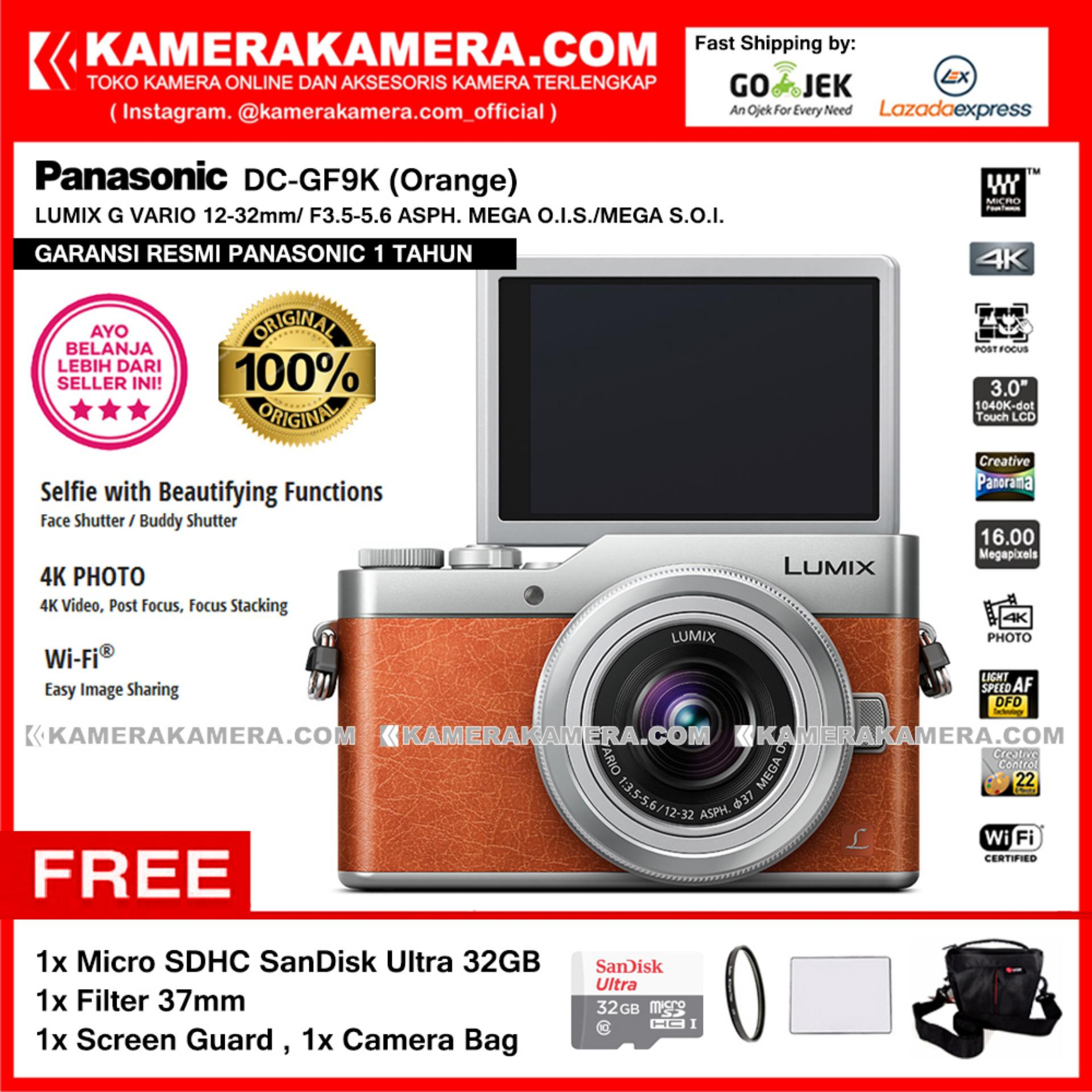 Panasonic DC GF9K Orange 4K Mirrorless Camera GF9 Post Focus 16MP Garansi Resmi