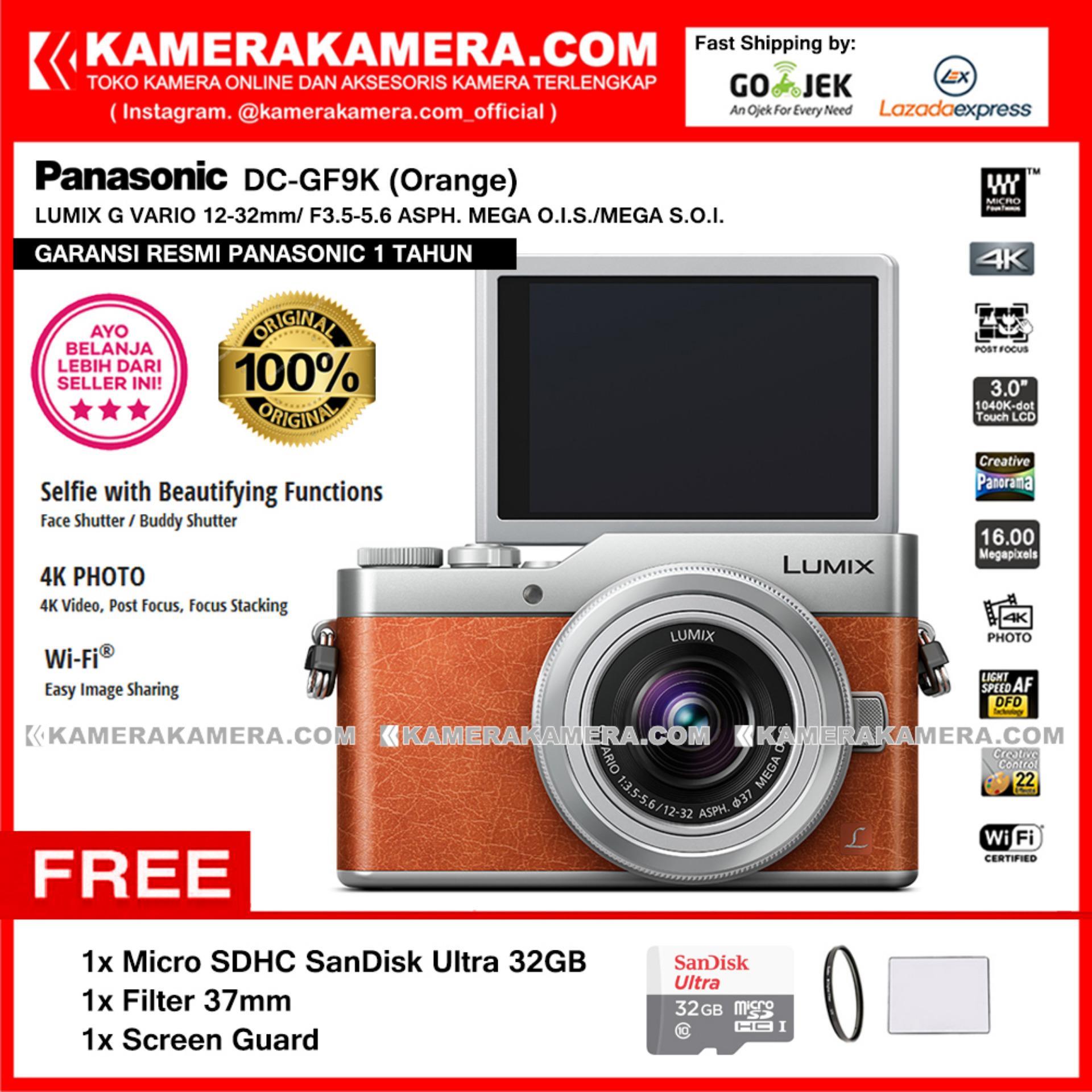 Daftar Harga Kamera Mirrorless 4k Terbaru Desember 2018 Panasonic Lumix Gx85k Lensa 12 32mm Dmc Gx85 Dc Gf9k Orange Camera Gf9 Post Focus 16mp Garansi Resmi