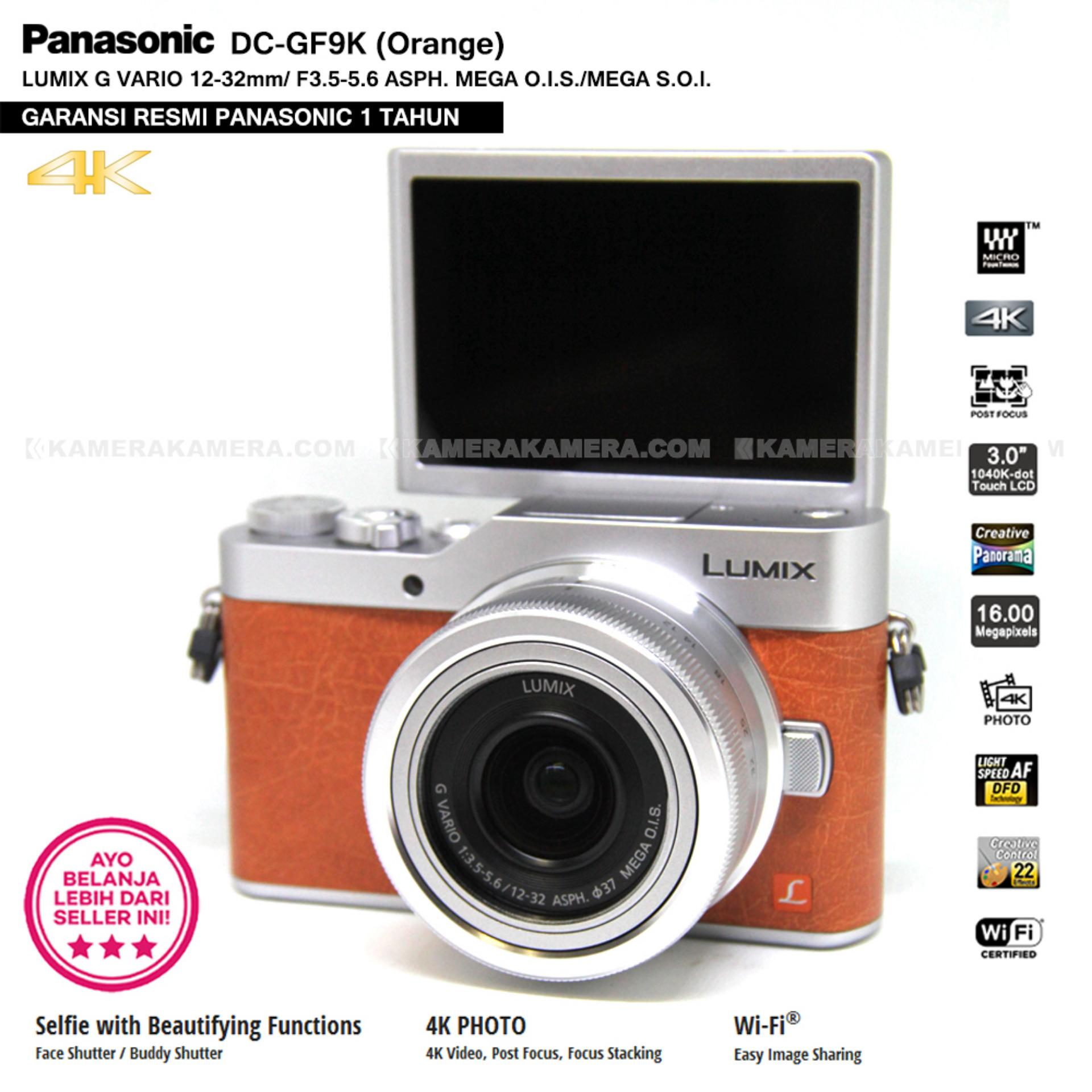 Panasonic DC GF9K Orange 4K Mirrorless Camera Post Focus 16MP Garansi Resmi