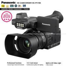 Review Panasonic Hc Pv100 Full Hd Camcorder 20X Optical Zoom Built In Led Video Light Professional Video Recorder Garansi Resmi Panasonic