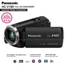 PANASONIC HC-V180 Handycam 28mm WIDE 10.0MP 90x Intelligent Zoom 5 Axis HYBRID FULL HD Camcorders (GARANSI RESMI)