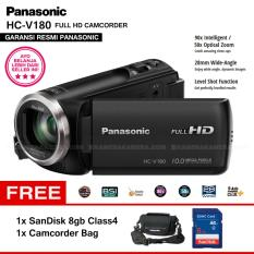 Spesifikasi Panasonic Hc V180 Handycam 28Mm Wide 10 0Mp 90X Intelligent Zoom 5 Axis Hybrid Full Hd Camcorders Garansi Resmi Sandisk 8Gb Camcorder Bag Yang Bagus Dan Murah