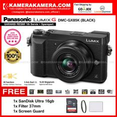 PANASONIC LUMIX DMC-GX85K Kamera Mirrorless GX85 BLACK 12-32mm Lens WiFi 16MP (Garansi Resmi) Free SanDisk Ultra 16gb + Screen Guard + Filter 37mm