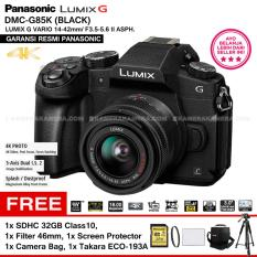 PANASONIC LUMIX G DMC-G85K BLACK + LUMIX G VARIO 14-42mm 16MP 4K Photo Post Focus Splash/ Dustproof (Garansi Resmi) + SDHC 32GB + Filter 46mm + Screen Protector + Camera Bag + Takara ECO-193A