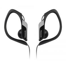 Panasonic Sports Clip Earbud Headphones RP-HS34-K (Black) Water Resistant, Tough, Durable, Adjustable Ear Clip, Ultra Light - intl