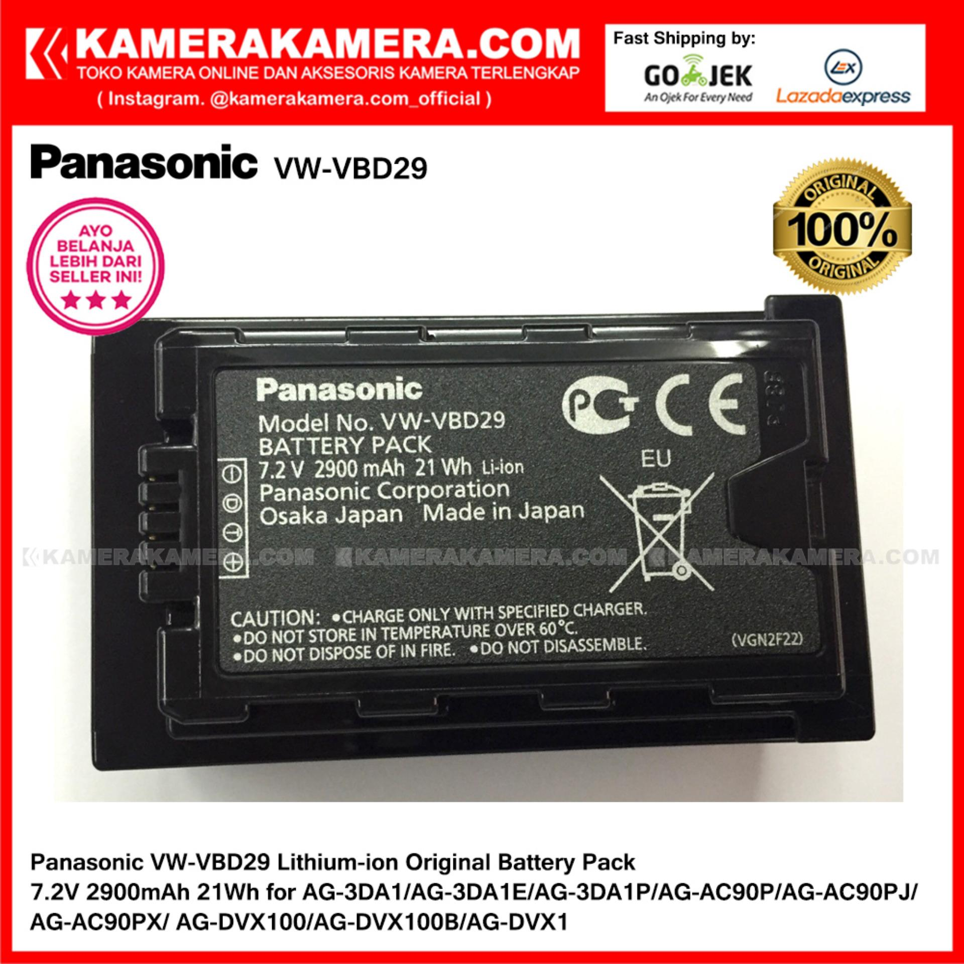 Panasonic VW-VBD29 Lithium-ion Original Battery Pack 7.2V 2900mAh 21Wh for AG-3DA1/AG-3DA1E/AG-3DA1P/AG-AC90P/AG-AC90PJ/AG-AC90PX/AG-DVX100/AG-DVX100B/AG-DVX1