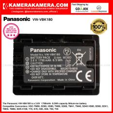 Panasonic VW-VBK180 Panasonic Baterai Original Lithium-Ion Battery Pack 3.6V 1790mAh 6.5Wh for Camcorder HDC-TM90, SD90, HS80, TM80, SD80, TM41, TM40, SD40, HS60