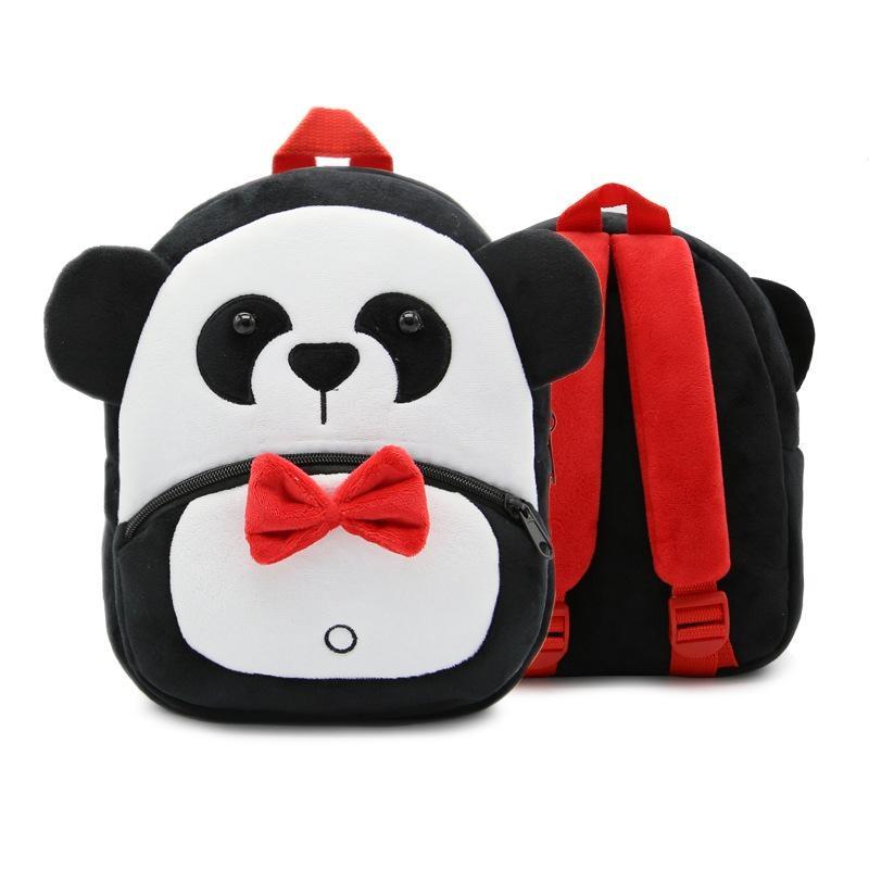 Panda Online 2-4 Tahun Tua Cute Animal Design Plush Tas Sekolah untuk Anak-anak Prasekolah TK-Intl