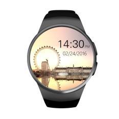 Pandaoo KW18 Bluetooth Smartwatch Terhubung Jam Tangan untuk Samsung HTC Huawei LG Android Xiaomi Smartphone Mendukung Panggilan Sinkronisasi Messager (Hitam)-Intl