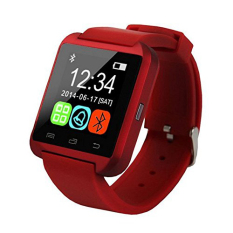 Pandaoo U8 Bluetooth Jam Tangan Pasangan For IOS And Android Samsung/Sony (merah)