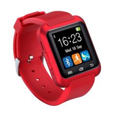 Pandaoo U80 Bluetooth 4,0 Bungkus Ponsel Jam Tangan Pintar For smartphone Android Samsung S3/S4/S5 Catatan 2 /Catatan 3 Note 4 HTC Sony (merah)