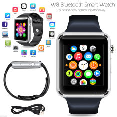 Pandaoo W8 Bluetooth jam tangan ponsel pintar Mate + SIM kamera untuk iPhone Android IOS HTC