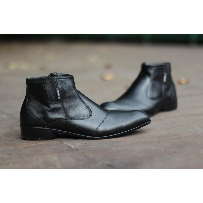 pantopel boots kulit pria sepatu slip on loafers kerja formal casual handmade kickers cevany Bally