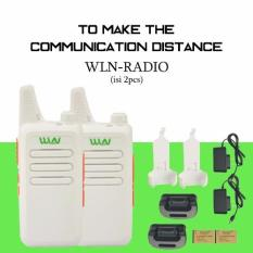 Beli Walkie Talkie Wln Ht Two Way Radio Isi 2Pcs Putih Online Terpercaya
