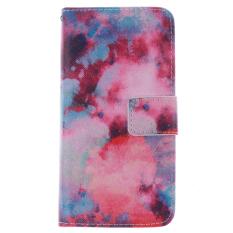 Pola Flip Dompet PU Leather Case dengan Slot Kartu & Penutup Flap Magnetik Stand Case Cover untuk HTC One 2 MINI/M8mini (Intl)
